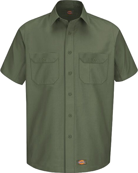 Dickies Olive Green Work Shirt