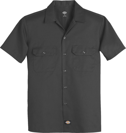 Dickies Short Sleeve Charcoal Work Shirt
