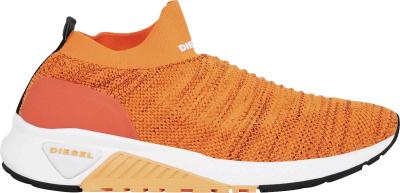 Diese Orange Knit Sock Sneakers