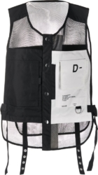 Diesel Black Mesh Utility Vest