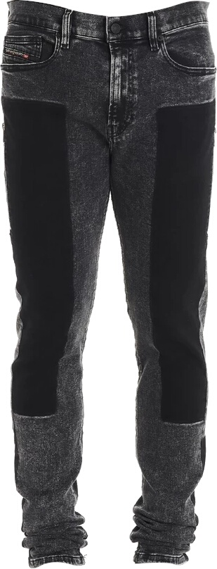 Diesel Contrast Panel Black Jeans