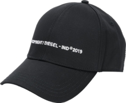 Diesel Copyright Embroidered Black Hat