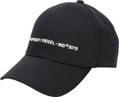 Diesel Copyright Embroidered Black Hat