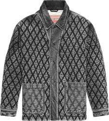 Diesel Grey Rolk Diamond Denim Jacket