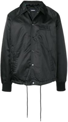 Diesel J Akio Black Satin Bomber Jacket