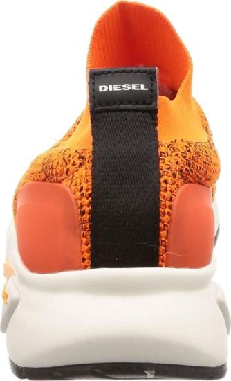 Diesel Orange Sock Sneakers