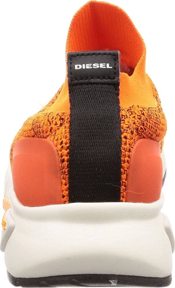 Orange Knit Sock Sneakers