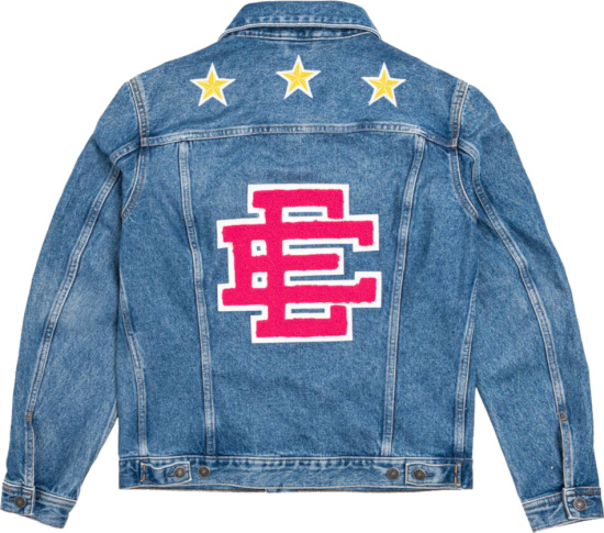 Diesel X Eric Emanuel Pink Logo Denim Jacket