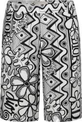 Dior x Shawn White & Black Floral Print Shorts