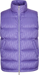 Purple Oblique Puffer Vest