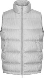 Silver Oblique Puffer Vest