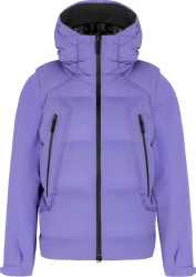 Dior x Descente Purple Convertible Puffer Jacket