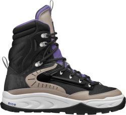 Black Lace-Up Snow Boots