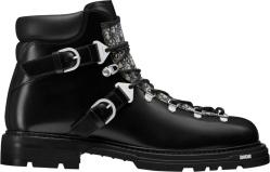 Black & Oblique-Trim 'Explorer II' Boots