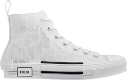 White Oblique 'B23' High-Top Sneakers
