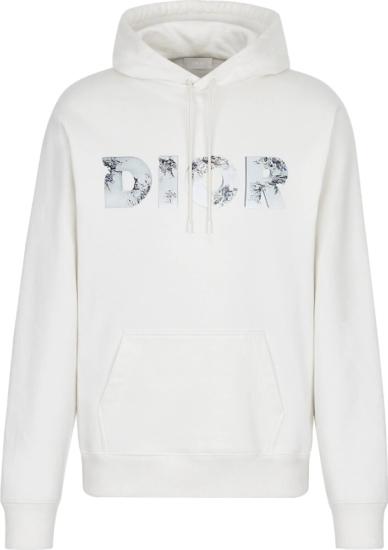 Dior 3d Logo Print White Hoodie