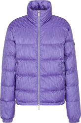 Purple Oblique Puffer Jacket