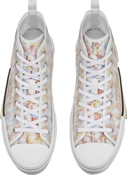 Dior B23 High Top Sneaker In Multicolor Dior Oblique