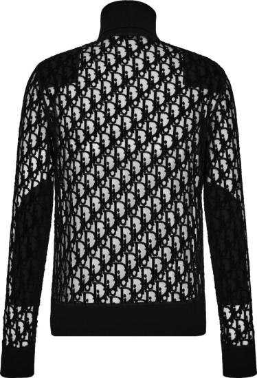 Dior Black Sheer Oblique Turtleneck