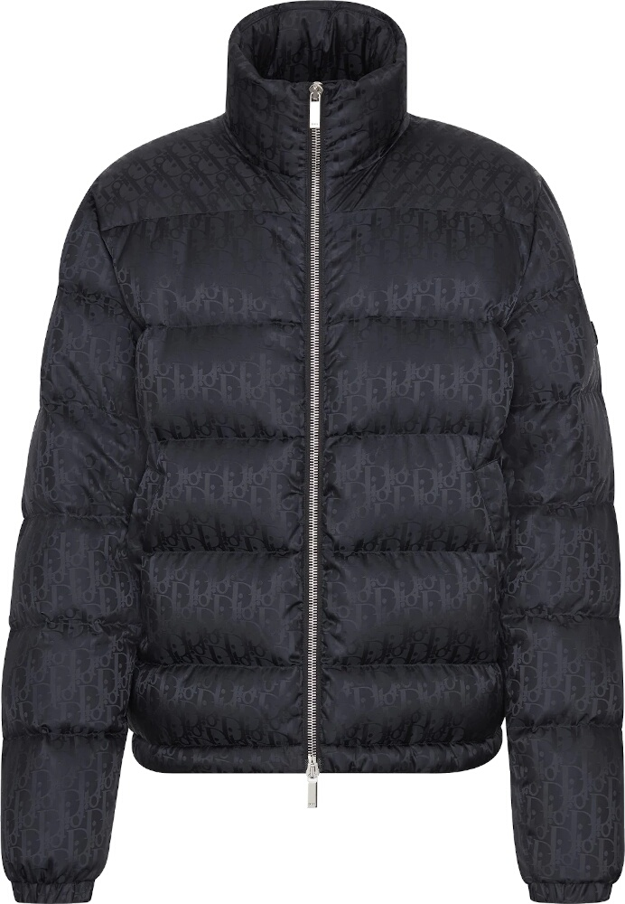 'Dior Oblique' Black Puffer Jacket