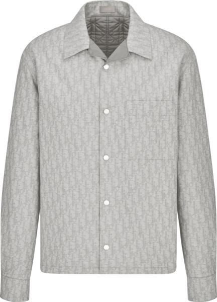 Dior Grey Oblique Overshirt