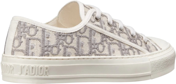 Dior White & Grey 'walk N Dior' Sneakers