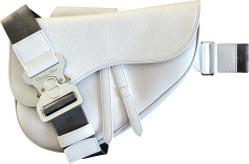 Dior Alyx White Leather Saddle Bag