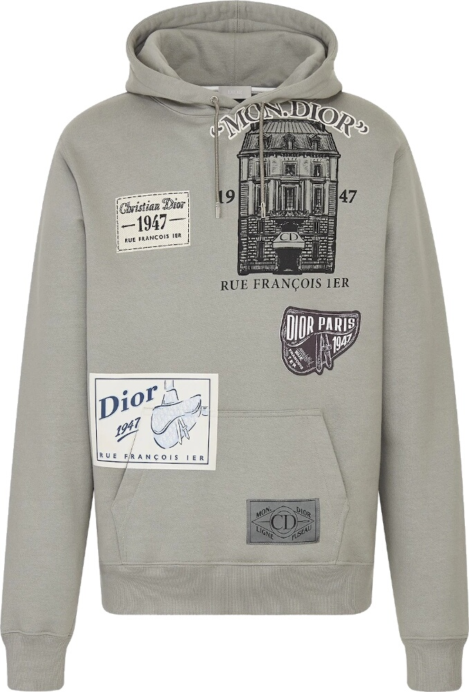 Archives Patch Grey Hoodie