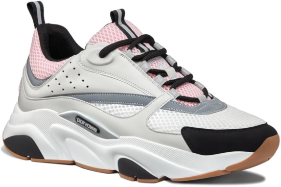Dior B22 Pale Pink And Grey Sneakers