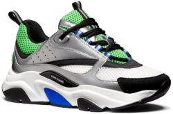Dior B22 Sneakers Ingrey White And Green Worn By A Boogie