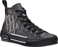 Dior B23 High Top Oblique Black Sneakers