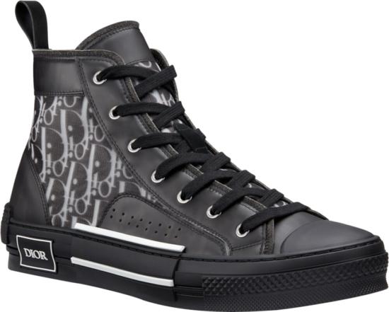 Dior B23 High Top Oblique Black Sneakers