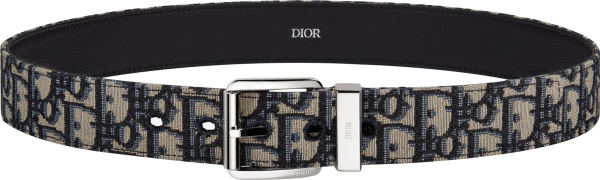 Dior Beige Oblique And Silver Tone T Buckle Belt 4333plyse H05e