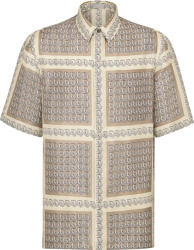 Dior Beige Oblique Border Shirt