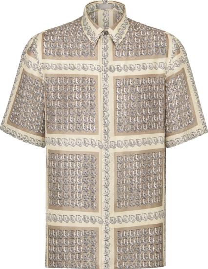 Dior Beige Oblique Border Shirt