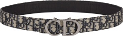 Dior Beige Oblique Cd Buckle Belt