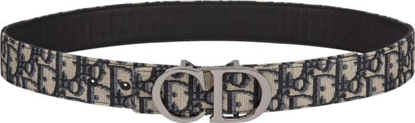 Dior Beige Oblique Cd Buckle Belt
