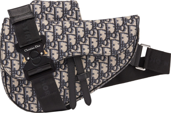 Dior Beige Oblique Saddle Bag
