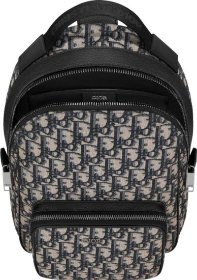 Dior Beige Oblique Sling Backpack