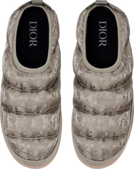 Dior Beige Olique Snow Slippers