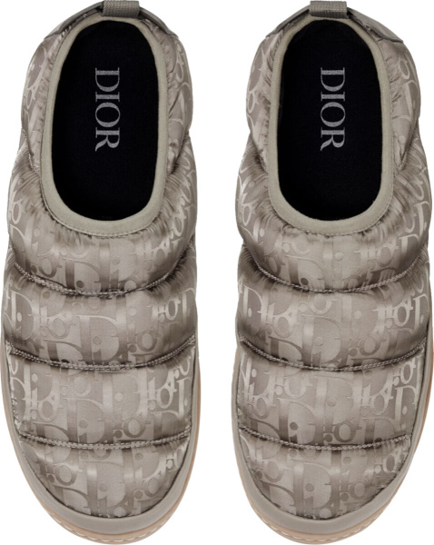 Dior Beige Olique Snow Slippers
