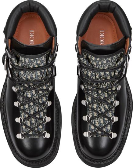 Dior Black And Oblique Tongue Explorer Ii Ankle Boots