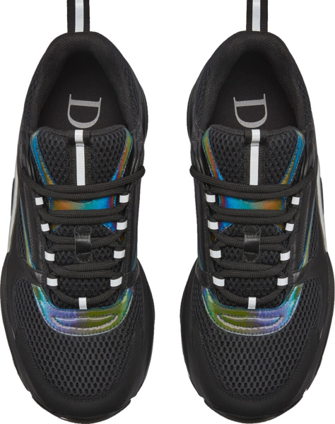 Dior Black And Rainbow B22 Sneakers
