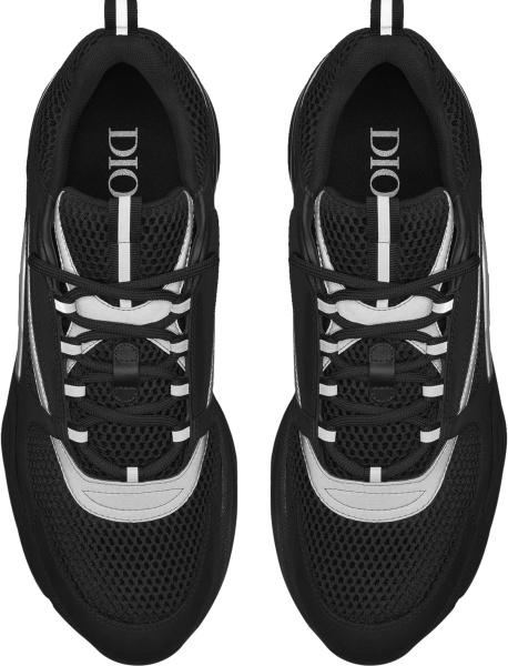 Dior Black And Silver Stripe B22 Sneakers