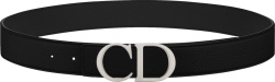 Black & Silver-Tone 'CD' Belt