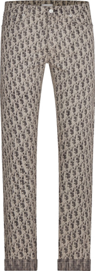 Dior Black And White Oblique Jacquard Jeans 013d001by989 C980