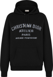 Dior Black Atelier Oversized Hoodie 043j646a0531 C988
