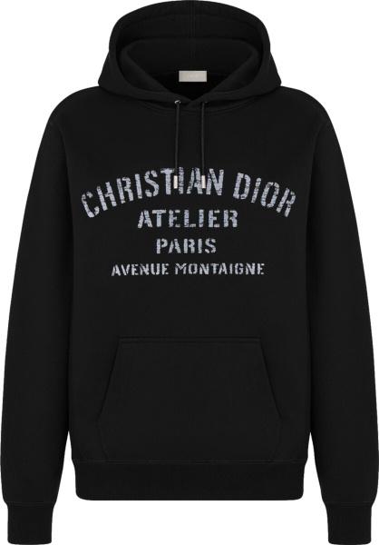 Dior Black Atelier Oversized Hoodie 043j646a0531 C988
