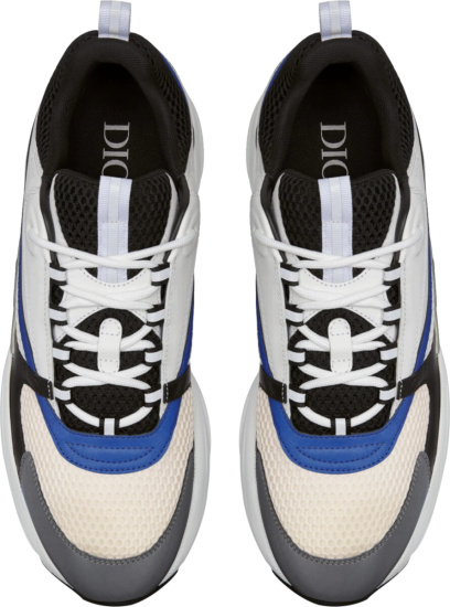 Dior Black Blue White Grey B22 Sneakers
