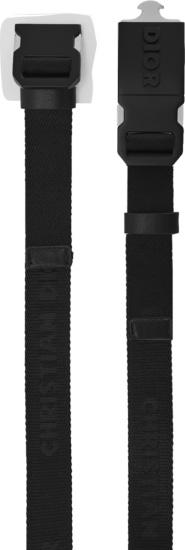 Dior Black Canvas Belt